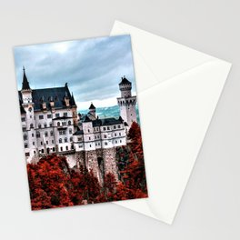 The Castle of Mad King Ludwig in the Autumn, Neuschwanstein Castle, Bavaria, Germany Stationery Cards