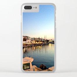 Ciutadella Harbor Clear iPhone Case