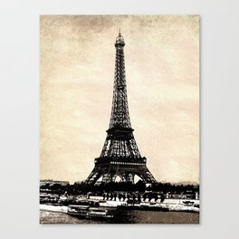 VINTAGE EIFFEL TOWER IN SEPIA Canvas Print