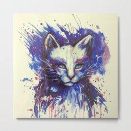 CAT PAINT FACE Metal Print