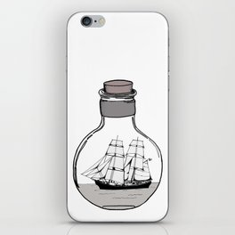 The ship in the glass bulb . iPhone Skin