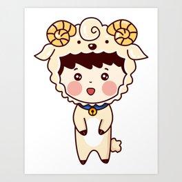 Cute Little Girl Art Print