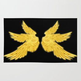 Golden Archangel Wings Rug