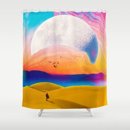 Behind This Mountains Shower Curtain