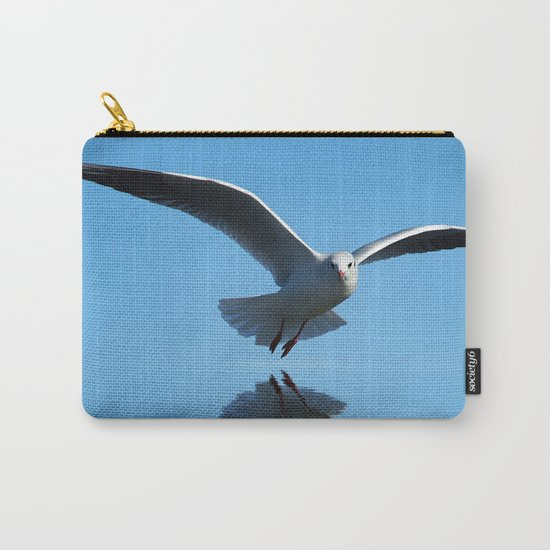 Seagull on blue sky Carry-All Pouch