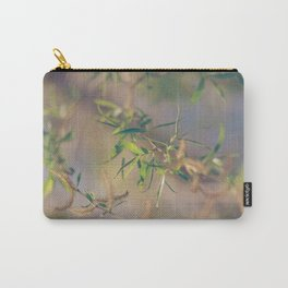 Pastel Blue and Green Botanical Carry-All Pouch