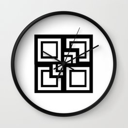 Square Pattern Wall Clock