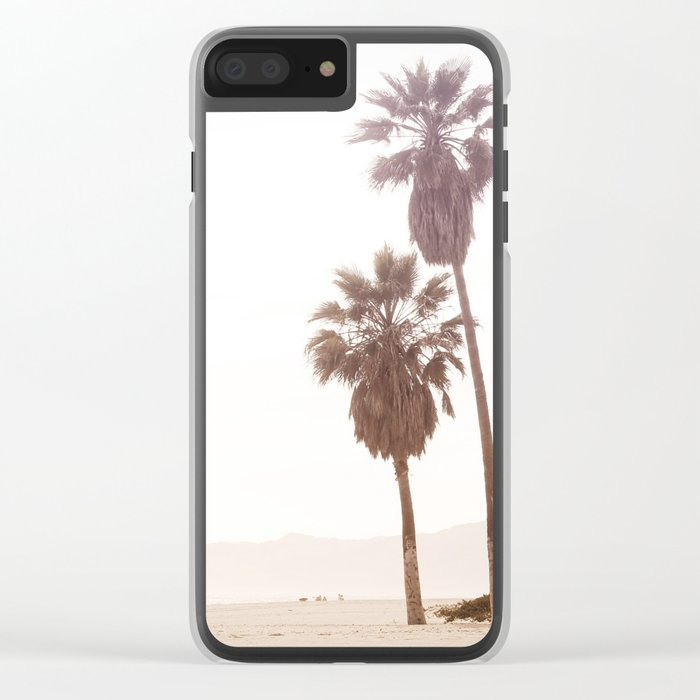 Vintage Summer Palm Trees Clear iPhone Case