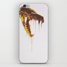 Painted Skull Gold iPhone Skin