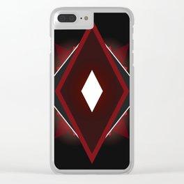 Black diamond. Clear iPhone Case