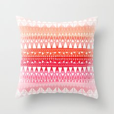 Triangle Gradient Pink Mix Throw Pillow