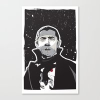 dracula Canvas Prints featuring Dracula by Matt Fontaine Creative
