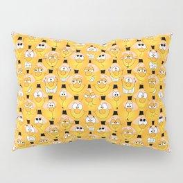 Funny Emoji Faces Pillow Sham