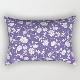 Ultra Violet Poetry Garden Flower Rectangular Pillow