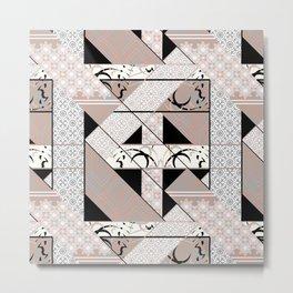 Patchwork pattern. Metal Print