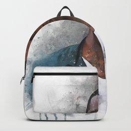 charles mcdowell wide neck guy watercolor Backpack