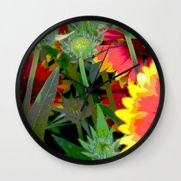 """Orange Flowers"" Wall Clock"