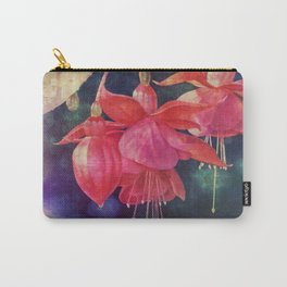 Fuchsias with Bokeh Carry-All Pouch