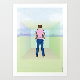 I didn't see the walls and I thought I was free. Art Print