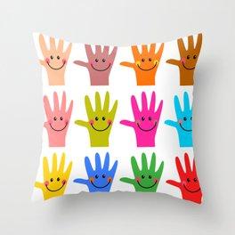 Happy Hands Throw Pillow