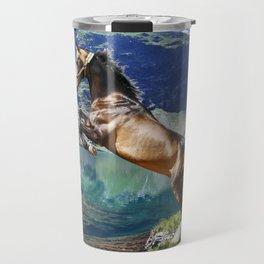 Horse and Lake Travel Mug