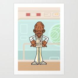 EP6 : Admiral Ackbar Art Print