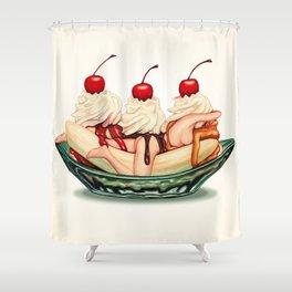 Sundae Best: Banana Split Shower Curtain