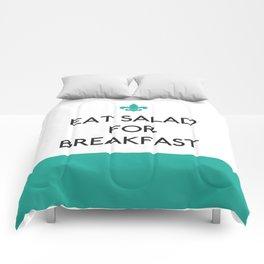 Eat Salad for Breakfast – quote Comforters
