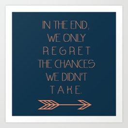 Regret Art Print