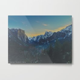 Sunrise in the Valley Metal Print