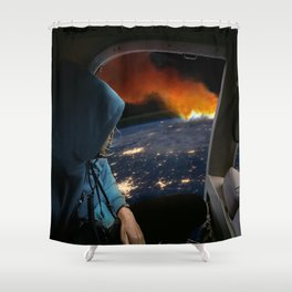 Global Warming Shower Curtain