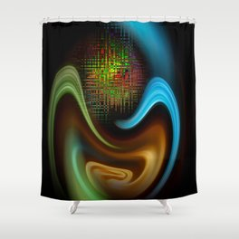 Abstract Perfektion 90 Shower Curtain