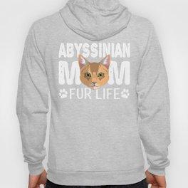 Abyssinian Cat Mom Fur Life Kitty Pun Hoody