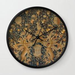 Vintage Golden Deer and Royal Crest Wall Clock
