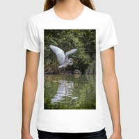 hunting T-shirts featuring Egret Hunting by Chris Lord