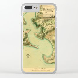 Map Of Antigua 1752 Clear iPhone Case