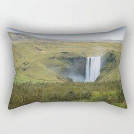 Skogafoss 1 Rectangular Pillow