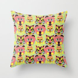 Modular Lions and Tigers and Bears. Throw Pillow