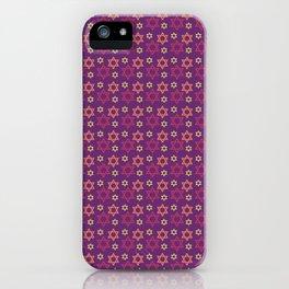 Star of David Jewish Pattern iPhone Case