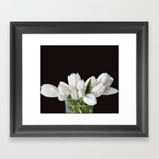 White Tulips Framed Art Print