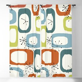 Mid Century Modern Shapes 1950s colors  Blackout Curtain