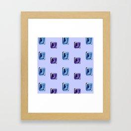 Step-Cut Pattern Framed Art Print