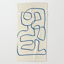 Abstract line art 16 Beach Towel