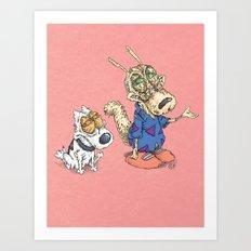 Zombie Life Art Print