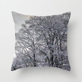 winter snow trees 2 Throw Pillow