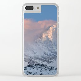 Mulhacen 3479 meters at sunset Clear iPhone Case