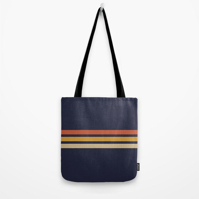 Vintage Retro Stripes Tote Bag