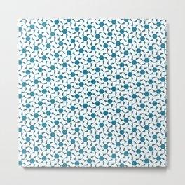 Damascus Motif Blue Palette Metal Print