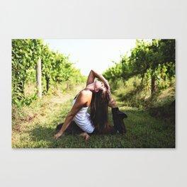 Vineyard Yoga Canvas Print