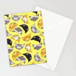"""""""Oro?"""" Cats-Canary Yellow Stationery Cards"""